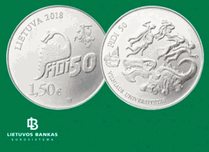 Legendinių Fizikų dienų FiDi simbolis – ant kolekcinės monetos