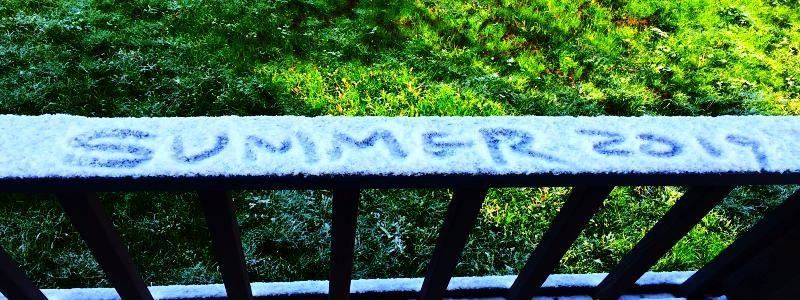 Vasaros viduryje krenta Snaigės